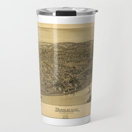 Aerial View of Duquesne, Allegheny County, Pennsylvania (1897) Travel Mug