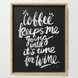 Coffee & Wine – White Ink Serving Tray