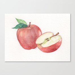 Apple and a Half Canvas Print