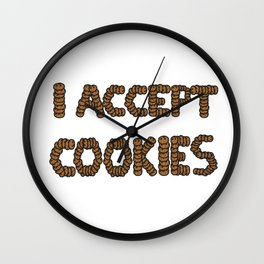 Cookies Sweets Payment accepted Children's gift idea Wall Clock