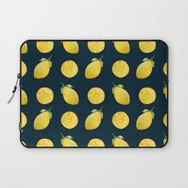 Watercolor Lemon Pattern Laptop Sleeve