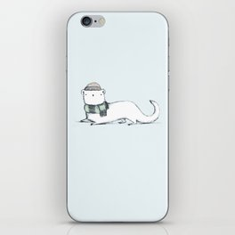 Ermine in Hat & Scarf iPhone Skin