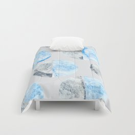 Feather Cloud Dot Pattern Comforters