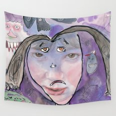 I feel scared Wall Tapestry