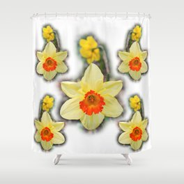 Daffodils in the Woods Shower Curtain