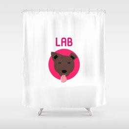 Chocolate Labrador Retriever Fun Dog Shower Curtain