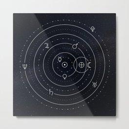 Planets symbols solar system Metal Print