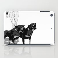 rottweiler iPad Cases featuring Fashion Rottweiler  by Gregory Casares