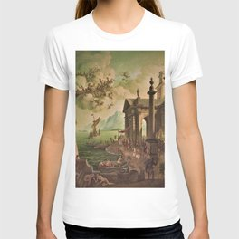 Ulysses Farewell to Penelope Seaport Landscape by Rex Whistler T-shirt