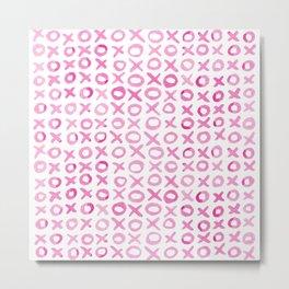 Xoxo valentine's day - pink Metal Print
