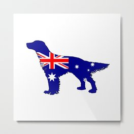 Australian Flag - English Setter Metal Print