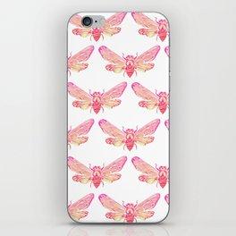 Summer Cicada – Pink Palette iPhone Skin