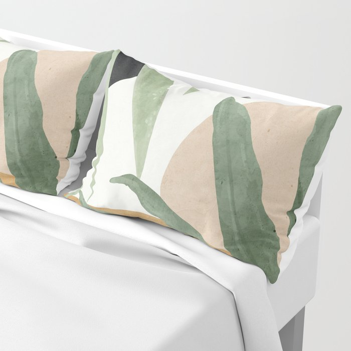 Abstract Art Tropical Leaves 4 Pillow Sham