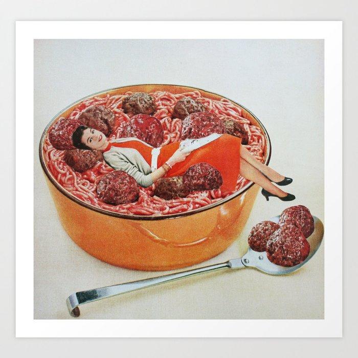 Meatball Life Art Print