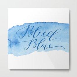 Bleed Blue Metal Print