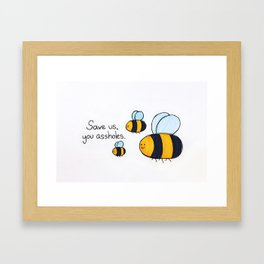 Bees!!! Framed Art Print