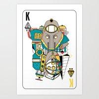 Big Daddy/Delta Bioshock Playing Card Art Print
