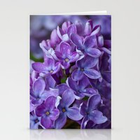 free shipping Stationery Cards featuring Lilac spring free shipping by Ordiraptus