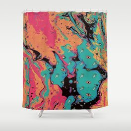 Senses pouring II Shower Curtain