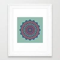 islam Framed Art Prints featuring Mandala Blue by Mantra Mandala