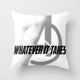 Whatever It takes Black Throw Pillow