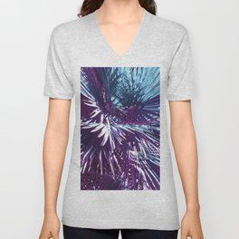 Lost in the wild - Tropical Palm leaves #tropicalart #buyart #Society6 Unisex V-Neck