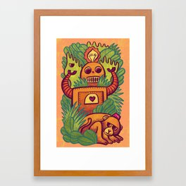 Watching Monkey Framed Art Print