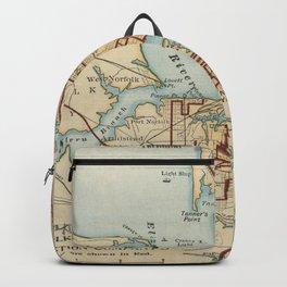 Vintage Map of Norfolk and Portsmouth VA (1919) Backpack