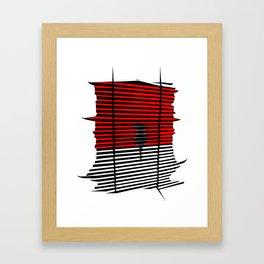 Samurai Cat Framed Art Print