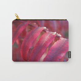 Radiant Red Sumac Leaves Carry-All Pouch