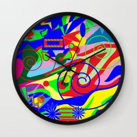 graffiti Wall Clocks featuring Graffiti by DesignsByMarly