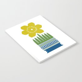Nordic Yellow Flower Notebook