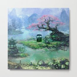 tardis under  the tree Metal Print
