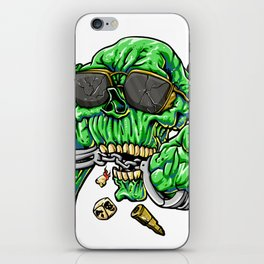 handcuffed zombie cartoon iPhone Skin
