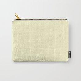 Pastel Lemon Yellow Pale Soft Meringue Yellow Carry-All Pouch