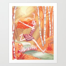 Beneath the Birch Art Print