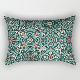 Peranakan Art Nouveau Tiles (Mixed Patterns in Peach Garden) Rectangular Pillow