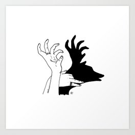 elk shadow Art Print