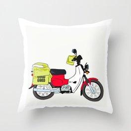 Postie Bike Throw Pillow