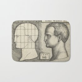 Female head and drawing in proportion to schedule,1542 Bath Mat