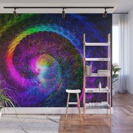 Spiral tie dye light painting Wall Mural