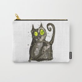Big fat black cat Carry-All Pouch