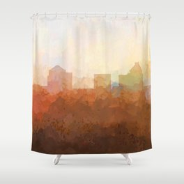 Greensboro, NC Skyline  - In the Clouds Shower Curtain