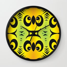 CVAn0044 Fussy Monster Smlies All Over Wall Clock