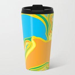 Jazz Dolphin Yellow Travel Mug