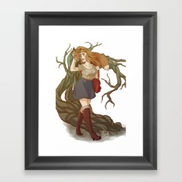 The Fox and The Banshee - Stydia Framed Art Print