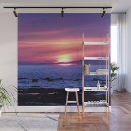 Surreal Sunset on the Sea Wall Mural