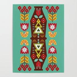 Folk Art Painting Poster