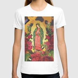 Virgen de Guadalupe Leopard T-shirt