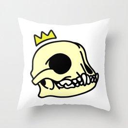 Boston Terrier Skull Throw Pillow
